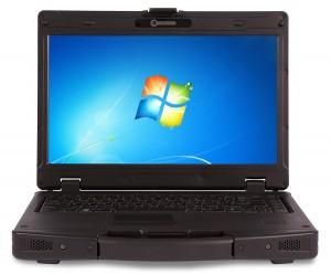 Durabook SA14 to laptop czternastocalowy, posiada solidną wzmacnianą magnezem obudowę, producent zapewnia, że nie jest mu straszny upadek z wysokości 90 cm